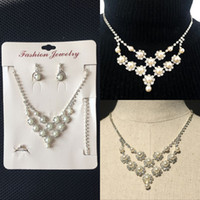 2016 New Design Bridal Jewelry Silver Plated Pearls Evening ...