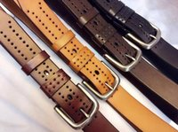 Luxury Men Belt First Ply Genuine Cowhide Leather Veg Tanned...