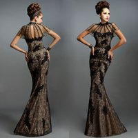 Dresses Evening Wear Janique Applique Lace High Neck Short S...