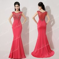 Real Image Mermaid Formal Dress Red In Stock XU021 Cheap 201...