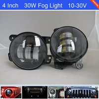 "The Newest 4"" Inch 6*5W Cree 30W LED Front Bumper Fog L..."