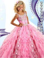 Pink Flower Girl' s Dresses 2015 Pretty Princess Ruffle ...