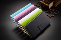 Bolsa de soporte Estilo Monedero PU Funda de cuero titular de la tarjeta de crédito con la cubierta del teléfono tirón magnético para el iPhone 4 4s 5 6 5s para Sony Z2 Z3 M2 T3