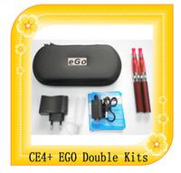 kits de iniciación dobles ego cigarrillo electrónico CE4S Ce4 + atomizador de 650mAh batería 900mAh 1100mAh + CE4 ego kits de doble cigarrillo electrónico kits duales