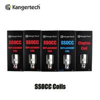 100% d'origine tête Kangertech SSOCC Clapton Bobines 0,15 / 0,2 / 0,5 / 1,2 / 1.5ohm pour les kits Kanger Debardeur Mini Subvoid