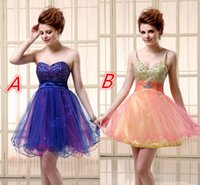 Short Rhinestone Tulle Homecoming Gowns 2015 Colorful Altern...