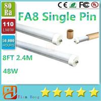 USA FA8 Single Pin 8FT T8 Led Light Tubes 192LEDs 2835 SMD L...