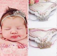 Baby Girl Kids Hair Bands Vintage Crystals Sparking Crown Pr...