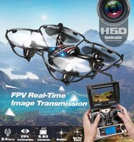 Original JJRC H6D Drone 5.8GHz FPV Real-Time 2.4G 4CH 6-Axis Gyro RC Quadcopter avec caméra 2.0MP HD