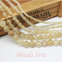 wholesale Natural Stone Smooth Citrine Quartz Loose Beads 15...