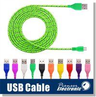 Type C 3.1 Câble Micro USB Remarque 7 S7 S6 Câbles tressés Nylon haute vitesse Données de charge / synchronisation Durable