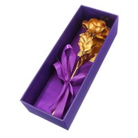 24k Feuille d'Or Rose 10 Pouces Floral + boîte Cadeau d'Anniversaire Saint-Valentin Fête des Mères