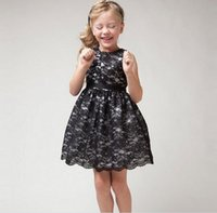 2016 Summer Dress Bowknot Lace Hollow Children Clothing Prin...