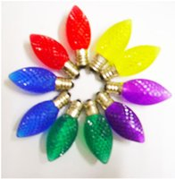 2015 LED bulb Rainbow colored LED strawberry light bulb Chri...