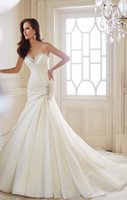 2015 Elegant Mermaid Wedding Dresses Sweetheart crystal Bead...