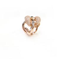 Anneaux d'humeur Zircon Band Rose Anneaux d'or pour les femmes Argent 925 Or Rose Fine Jewelry Made Pour Oder ARS17206