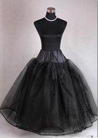 Hot Classy Black 4 Layer Tulle Hoopless Petticoat Underskirt...