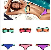 Newest Sexy Swimwear for Women Patchwork Triangle Bikini Set...
