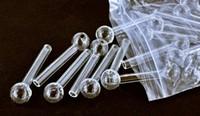 tuyau d'eau de pipe en verre de l'ongle d'huile de pipe en verre de tube de verre de brûleur à mazout en verre clair tuyau 12cm et 10cm de verre