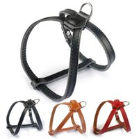 "3 8"" Wide Adjustable Real Leather Dog Pet Harness for S..."