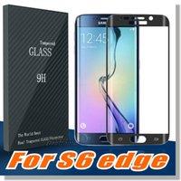 Pour S7 S7EDGE S6 Edge Protecteur d'écran, 0.2mm 3D Curved [Full Screen Coverage] Film de verre trempé pour Samsung Galaxy S6 Edge / S6 edge Plus