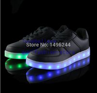 Wholesale- LED Light noctilucent shoes brand fashion genuine ...