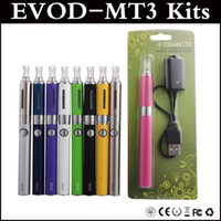 Evod MT3 Blister Kit Cigarette électronique MT3 atomiseur 650mAh 900mAh 1100mAh Evod batterie 2.4ml MT3 atomiseur blister via DHL