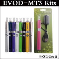Evod MT3 Blister Kit Cigarrillo electrónico MT3 atomizador 650mAh 900mAh 1100mAh Evod batería 2.4ml MT3 atomizador blister kits vía DHL