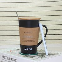 drop ship High Quality Starbucks ceramic coffee cup, black a...