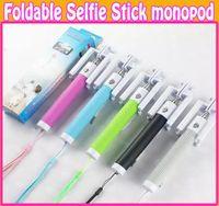 Mini Monopod Foldable Extendable Camera Handheld Wired Selfi...