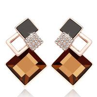 Boucles d'oreilles de mode cristal autrichien Boucles d'oreilles zircon pour Bijoux Femmes Simulé diamant Earings Fashion