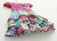 baby girl kids flower dress floral dress cake dress ruffles ...