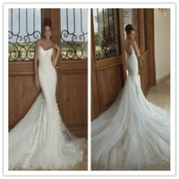 2015 Galia Lahav Mermaid Wedding Dresses with Spaghetti Stra...