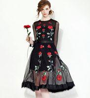 2015 Autumn New Arrivals Women' s Gauze Long Sleeve Rose...