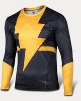 men t shirt 2015 Black Adam long sleeve t- shirt men' s c...
