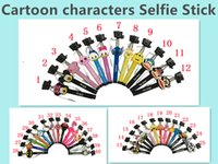 2015 Lovely Cartoon Monopod Audio Cable cartoon Wired Selfie...