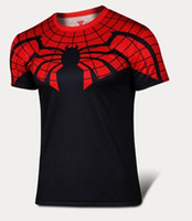 men t shirt spider man short sleeve outdoor sport t- shirt ti...