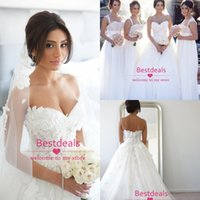 Vintage Lace A Line Tulle Wedding Dresses 2015 Sweetheart Ba...