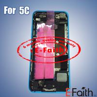 Pour l'iPhone 5C couleur arrière Batterie couvercle logement assemblage avec cadre moyen avec accessoires Livraison gratuite
