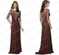 Dark Brown Chiffon Mother of The Bride Dresses 2014 Fall Win...