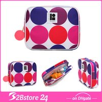 Cube Cosmetic Bag Colorful Circle Round Makeup Bag Case Hand...