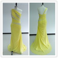 2015 Best Selling One- Shoulder Bridesmaid Dresses with Beadi...