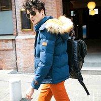 Winter High quality fur collar Men Down Coats Hooded thicken...