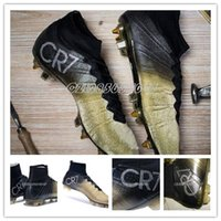 2015 Mercurial Superfly CR7 FG Soccer Shoes Ronaldo Gold Foo...