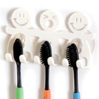 Free shipping bathroom sets cute Cartoon sucker toothbrush h...