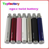 eGo-C de la torcedura de la batería del ego voltaje variable 1100mah batería 650mAh 900mAh para los kits de cigarrillos electrónicos kit de cigarrillo electrónico ego del envío libre de DHL