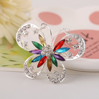 New Fashion Clear Crystal Cute Butterfly Brooch Pin Jewelry ...