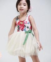 baby girl kids lace dress vintage flower floral tutu dress c...