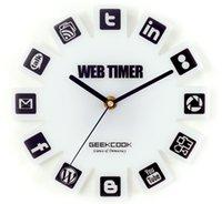 GeekCook Wall Clock wall clock simple Web2. 0 5pcs a bag, for...
