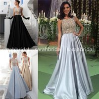 2015 Tarik Ediz Vintage Satin Formal Evening Dresses with Ar...